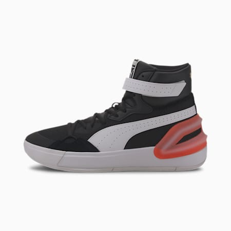 Sky Modern basketbalschoenen, Puma Black-Puma White, small