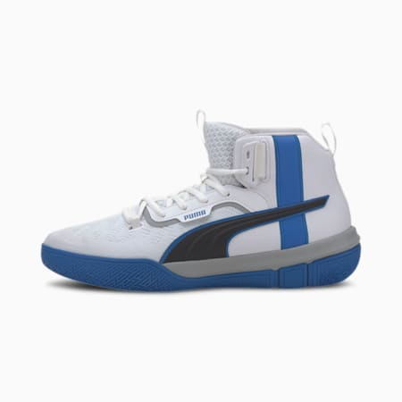 Legacy MM Basketball Shoes, Puma White-Strong Blue, small