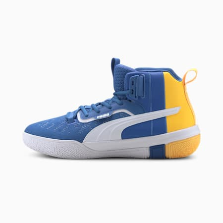 Legacy MM Basketball Shoes, Palace Blue-ULTRA YELLOW, small