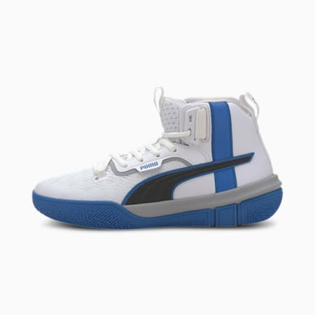Legacy Madness Basketball Shoes JR, Puma White-Strong Blue, small
