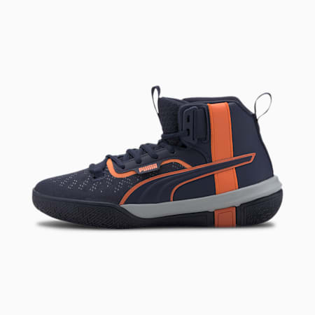 Legacy MM Youth Basketball Shoes, Peacoat-Dragon Fire, small