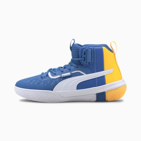 Legacy MM Youth Basketball Shoes, Palace Blue-ULTRA YELLOW, small