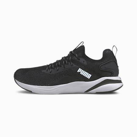 SOFTRIDE Rift Knit Men's Running Shoes, Puma Black-Puma White, small-IND