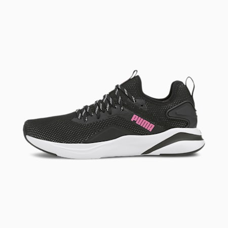 SOFTRIDE Rift Knit Women's Running Shoes, Puma Black-Luminous Pink, small