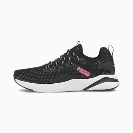 SOFTRIDE Rift Knit Women's Running Shoes, Puma Black-Luminous Pink, small-GBR
