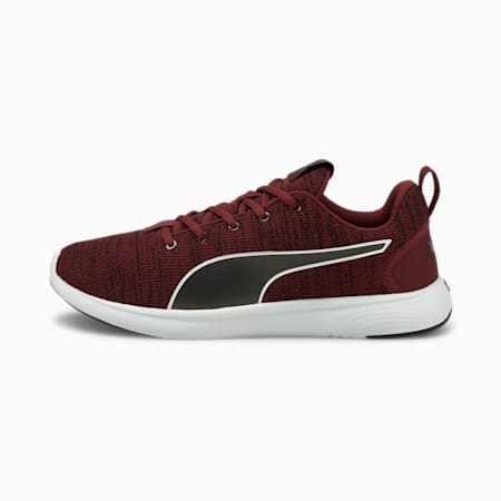 SOFTRIDE Vital Clean Men's Running Shoes, Zinfandel- Black- White, small-IND