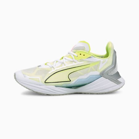 UltraRide Running Shoes JR, Puma White-Fizzy Yellow, small