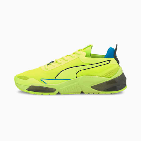 PUMA x FIRST MILE LQDCELL Optic Xtreme hardloopschoenen voor heren, Fizzy Yellow-Puma Black-Nrgy, small