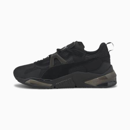 Chaussures de course PUMA x FIRST MILE LQDCELL Optic Mono homme, Puma Black-Metallic Silver, small