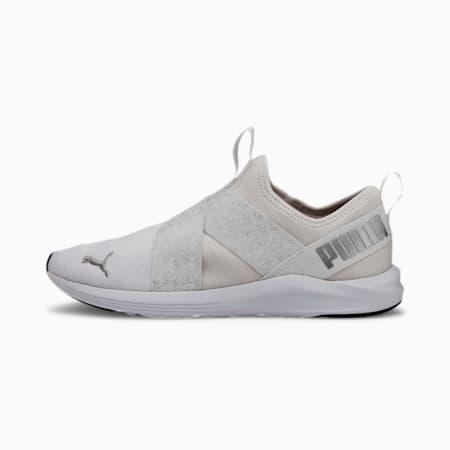 Prowl Slip-On Metallic Women's Shoes, Puma White-Metallic Silver, small