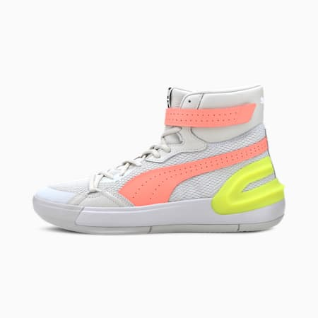 Sky Modern Basketballschuhe, Glacier Gray-Fizzy Yellow, small