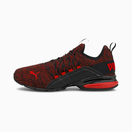 Axelion Ultra Men's Training Shoes, Puma Black-High Risk Red, small