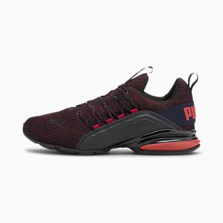 Axelion Ultra Men's Running Shoes, Puma Black-Cordovan-Rd Dhlia, small