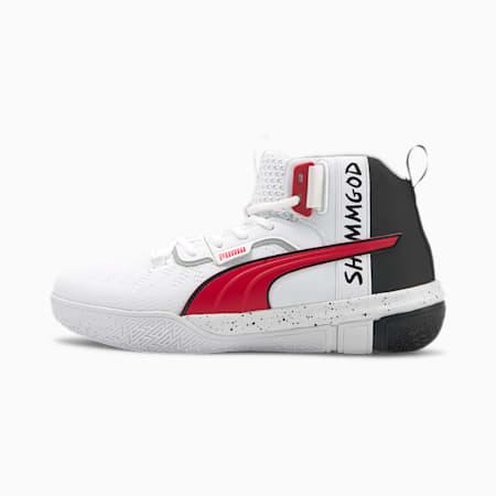 Legacy Shammgod Basketball Shoes, Puma White-Puma Black, small