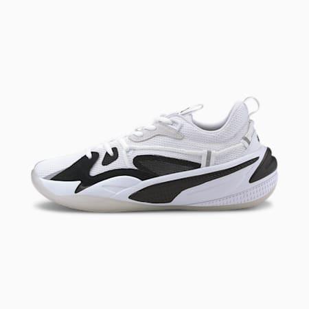RS-Dreamer Ebony and Ivory Basketball Shoes JR, Puma White-Puma Black, small