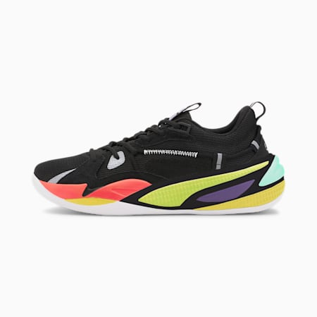 Dreamer 2 basketbalschoenen jongeren, Puma Black-Nrgy Red, small
