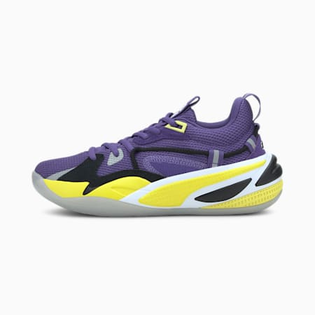 RS-Dreamer Purple Heart Basketball Shoes JR, Prism Violet-Blazing Yellow, small