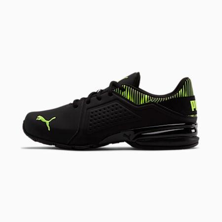 Viz Runner Graphic Men's Sneakers, Puma Black-Yellow Alert, small