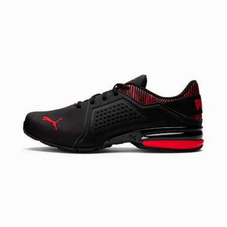 Zapatos deportivos Viz Runner Graphicpara hombre, Puma Black-High Risk Red, pequeño