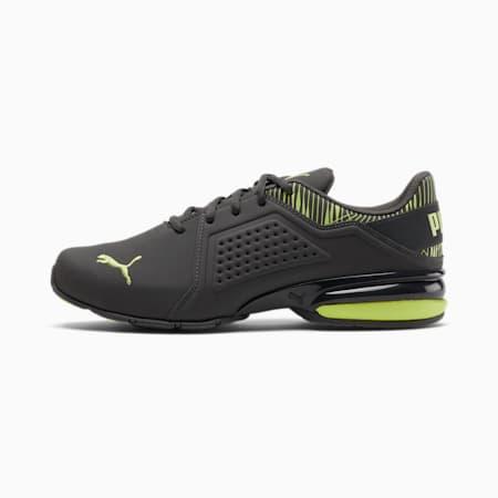 Viz Runner Graphic Men's Sneakers, Asphalt-Sharp Green, small