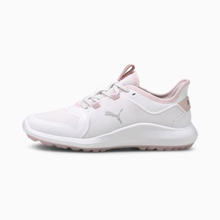 IGNITE FASTEN8 Women's Golf Shoes, White-Puma Silver-Pink Lady, small-GBR
