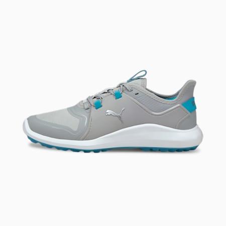 IGNITE FASTEN8 Women's Golf Shoes, High Rise-Puma Silver-Scuba Blue, small-GBR
