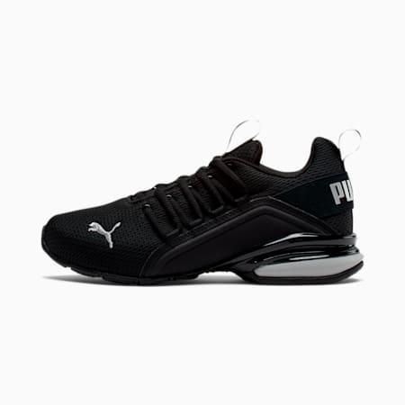Zapatos deportivos Axelion M JR, Puma Black-Puma Silver, pequeño