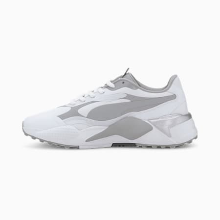 RS-G Women's Golf Shoes, Puma White-QUIET SHADE-Quarry, small-IND