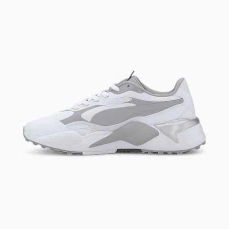 RS-G Women's Golf Shoes, Puma White-QUIET SHADE-Quarry, small-SEA