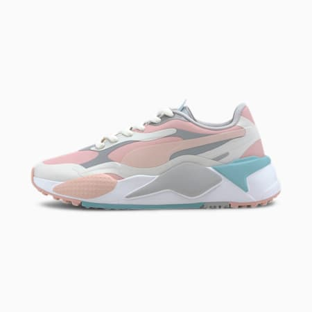 RS-G Women's Golf Shoes, Gray-Peachskin-High Rise, small