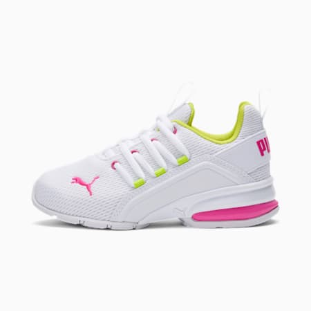 Axelion Little Kids' Shoes, White-Pink-Limepunch, small