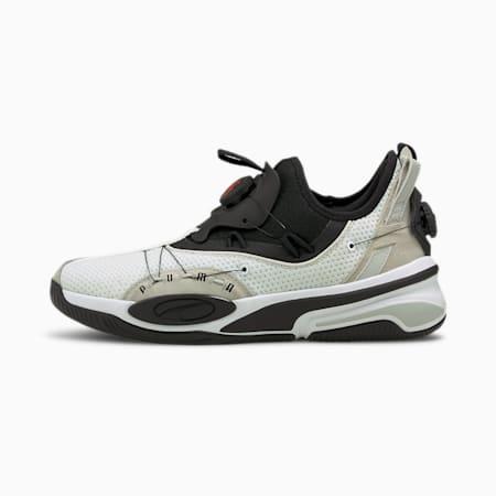 ダブル ディスク ミッドカット バスケットボール シューズ, Puma White-Puma Black, small-JPN