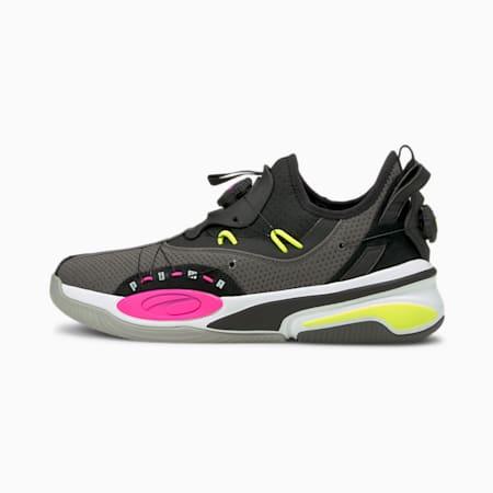 Double Disc Basketball Shoes, CASTLEROCK-Puma Black, small