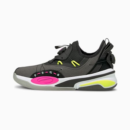 Double Disc Basketball Shoes, CASTLEROCK-Puma Black, small