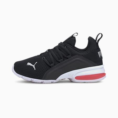 ZapatosAxelion Meshpara niños pequeños, P.Blk-P.Silver-High Risk Red, pequeño