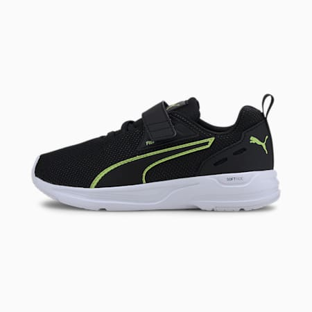 Comet 2 FS V Kids' Trainers, Black-Fizzy Yellow-White, small-GBR