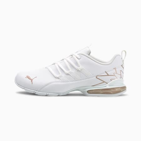 Riaze Prowl Graphic Wide Women's Training Shoes, Puma White-Rose Gold, small