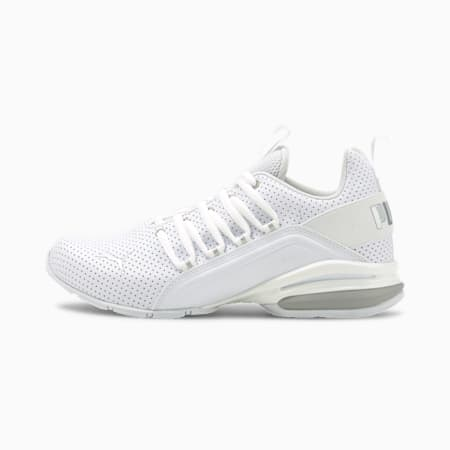 Axelion M Perf Metallic Sneakers JR, Puma White-Puma Silver, small