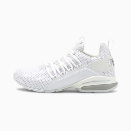 Axelion M Perf Metallic Training Shoes JR, Puma White-Puma Silver, small-SEA