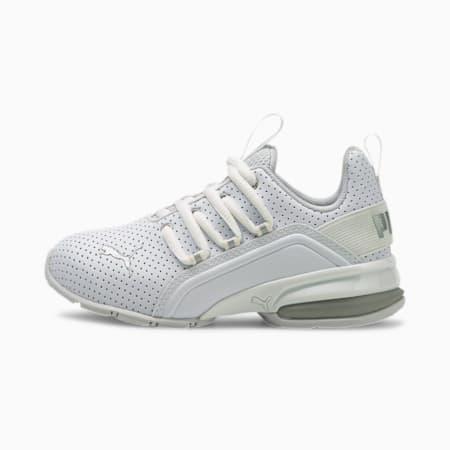 Axelion M Perf Metallic Little Kids' Shoes, Puma White-Puma Silver, small