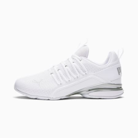 Axelion Perf Wide Men's Training Shoes, Puma White-Puma Silver, small