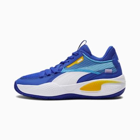 Zapatos para básquetbol Court RiderJR, Dazzling Blue-Saffron, pequeño