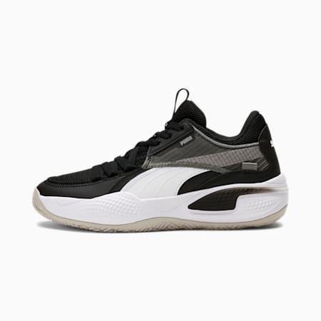 Zapatos para básquetbol Court RiderJR, Puma Black-Puma White, pequeño
