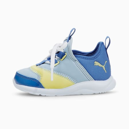 Fun Racer Elevate Slip-On Babies' Trainers, Blue Fog-Yellow Pear, small-SEA
