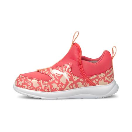 Zapatos sin cordones Fun Racer Summer Animalspara niños pequeños, Sun Kissed Coral-, pequeño