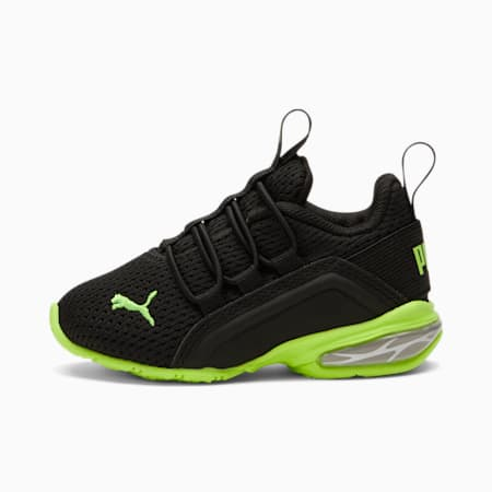 ZapatosAxelion M para bebés, Puma Black-Green Glare, pequeño