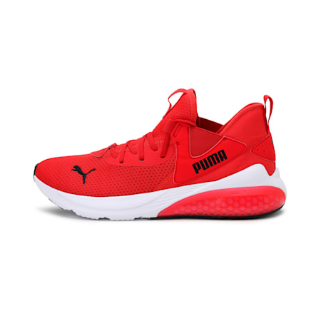 Cell Vive Men's Running Shoes, High Risk Red-Puma White, small-IND