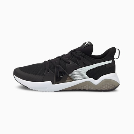 Cell Fraction Men's Running Shoes, Puma Black- White-CASTLEROCK, small-IND