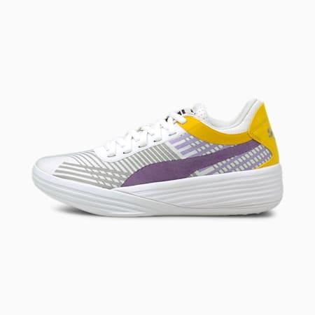 Zapatos para básquetbol Clyde All-Pro JR, Spectra Yellow-Puma White, pequeño