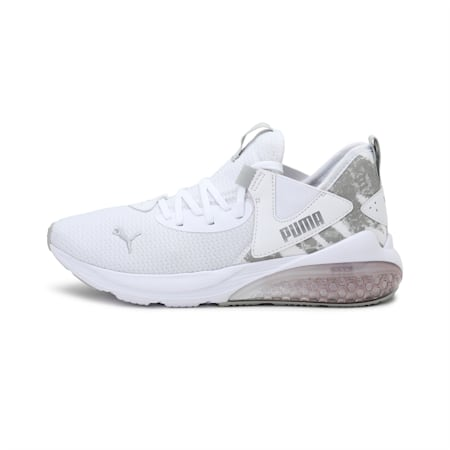 Cell Vive Animal Women's Running Shoes, White-Silver-Gray Violet, small-IND